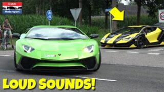 Cars Leaving Supercars & Classics 2017! – Centenario, F12, Aventador SV, 650S, Corvette Z06,…