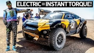 First Drive: Ken Block Drives the ALL NEW Extreme E Electric Racecar in Last Stage of Dakar Rally