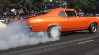 Muscle Car Street burnouts Hot Rods peeling out burning rubber Adirondack Nationals Samspace81 vlog