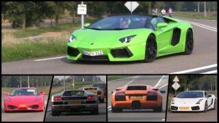 Supercars & Classic Cars leaving Auto Moto d'Italia Rosmalen 2015 | Lamborghinis, Ferraris and more!