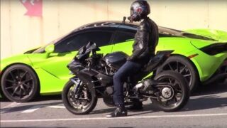 Mclaren 720s vs Kawasaki Ninja H2 1/4 Mile – StreetSpeed717 vs 650ib