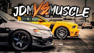 MUSCLE VS. IMPORT [CRAZY TURBO TUNER CARS!]