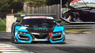 Renault R.S.01 w/ Nissan GT-R R35 Engine in action at Monza Circuit + OnBoard!