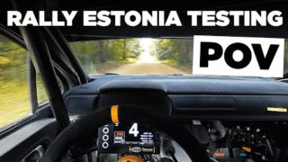 WRC Rally Estonia Testing POV