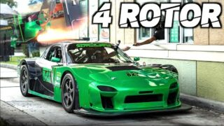 "4 Rotor RX7 SCREAMS 11,000RPM ""Street Legal Mazda 787B"" (CRAZIEST SOUNDING CAR WE'VE EVER FILMED!)"