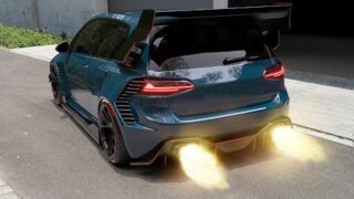 VW Golf 7 FLAMETHROWER Hardcore Bodykit by hycade