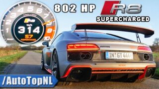 Audi R8 MTM GT4 802HP Supercharged 0-314 *INSANE* Sound by AutoTopNL
