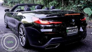 BMW G14 M850i Convertible w/ ARMYTRIX Valvetronic De-Catted Turbo-Back Exhaust | Open/Close Hood