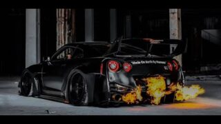 The Dark Knight x R35 GT-R with ARMYTRIX x LBWK Liberty Walk – LB SILHOUETTE WORKS