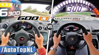 Lamborghini Huracan Evo vs McLaren 600LT   0-250 & AUTOBAHN POV by AutoTopNL