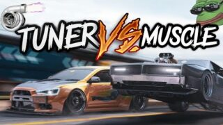 MUSCLE vs IMPORT [CRAZY TUNER CARS]