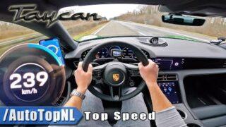 Porsche Taycan RWD TOP SPEED on AUTOBAHN [NO SPEED LIMIT] by AutoTopNL