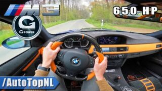 650HP BMW M3 E92 G-Power *SUPERCHARGED* POV by AutoTopNL