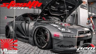 * STEALTH TUNED NISSAN GTR R35 – LIBERTY WALK KIT * DROPPED TO THE FLOOR *