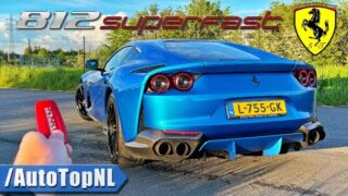FERRARI 812 Superfast *340KMH* REVIEW on AUTOBAHN [NO SPEED LIMIT] by AutoTopNL