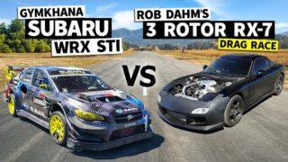 Rob Dahm's 1,000hp 3 Rotor RX-7 vs. Travis Pastrana's Gymkhana 2020 Subaru STI // Flying Finish