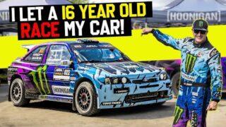 Checker or wrecker?? 16-Year-Old Jax Redline's FIRST Rally Race – In Ken Block's Cossie V2!!