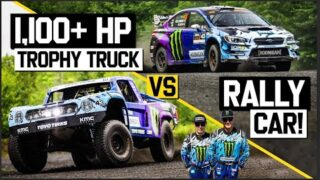 Trophy Truck vs. Rally Car – Ken Block Drives Both. Which one's faster?