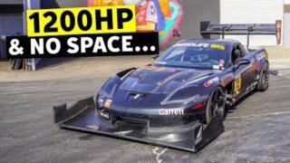 1200hp Twin Turbo Time Attack Z06 Corvette SHREDS Tire Slayer Studios // Build Break