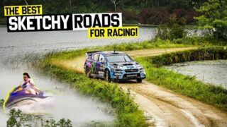 Ken Block Goes Flat Out In the Rain Rutted Stages & Sketchy Jumps – Ojibwe Forrest Rally.