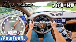 760HP PORSCHE CAYENNE TURBO on AUTOBAHN [NO SPEED LIMIT] by AutoTopNL