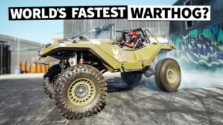 FIRST BURNOUT! Our Real Life 1,000hp Halo Warthog RIPS Tire Slayer Studios!
