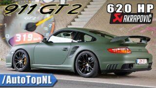 PORSCHE 911 997 GT2 620HP | AKRAPOVIC & 319KM/H ACCELERATION by AutoTopNL